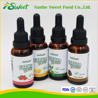 Food additives wholesale 30ml/50ml stevia liquid/drops natural concentrated liquid food flavoring