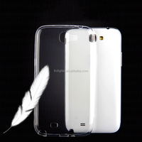 Ultra Thin Crystal Transparent Clear Soft Plastic Case TPU Silicone Cover For Samsung Galaxy Note II 2 N7100 Moblie Phone Case