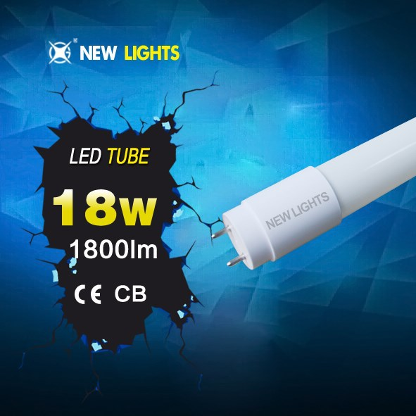 New design young tube 18w t8 led red tube xxx flexible led integrative tube light ETL SAA CE RoHS Approved