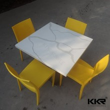 artificial stone waterproof table top restaurant dining table and chair