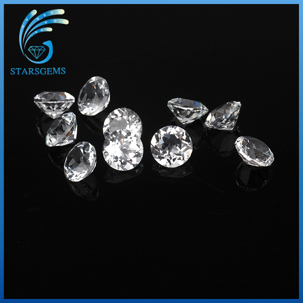 Diamond Shining Round Natural White Top Quality Topaz Gemstone