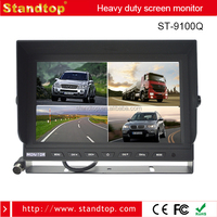 High Quality 9 inch TFT LCD Car Color Quad Split Screen Monitor For Truck