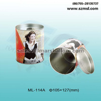 Hot sale metal round tin case