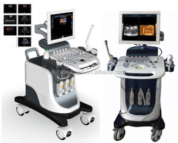 color doppler ultrasound machine with trolley /CE FDA Aprroved 4D Color Doppler