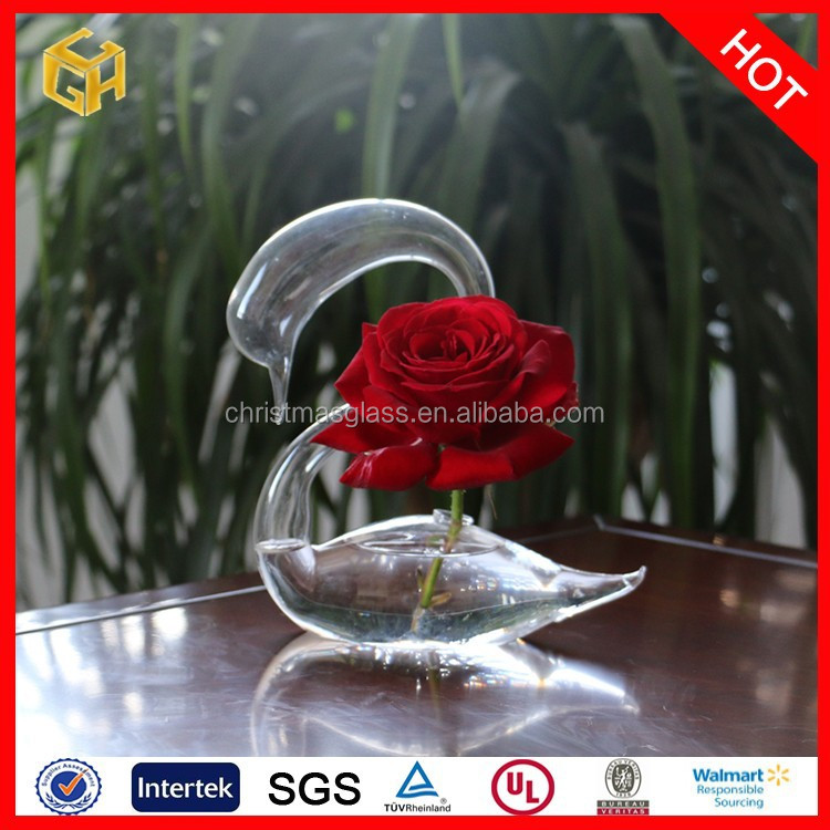 Factory price clear types of flower glass vase chinese vase ,glass vase