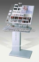 Acrylic cosmetic floor stand display