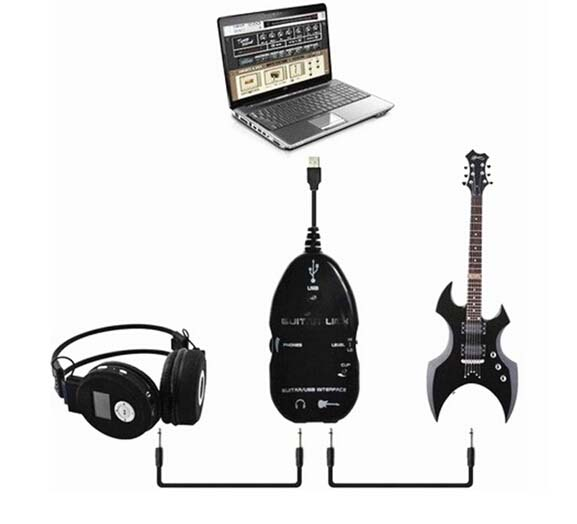PC/MAC Recording Record with CD Driver New Guitar to USB Interface Link Cable Best Selling