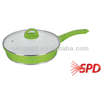 Die-casting aluminum fry pan with white ceramic coating