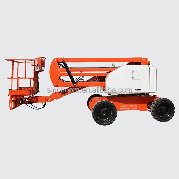 Hot sales 15M self propelled articulated lifts,SINOBOOM diesel articulated platform,hydraulic mobile articulating lift for sale
