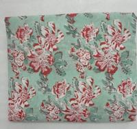 Hand Block Flower Cotton Printed Fabric