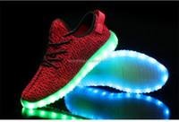 Unisex Women Men USB Charging light Flashing Sneakers LED Shoes