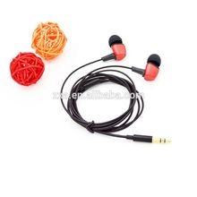 Hot sell red earphone earbuds mobile phone and smart phones accessories shenzhen factory