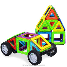 Magnetic Toy Cars Plastic Building Blocks Toys For Kids