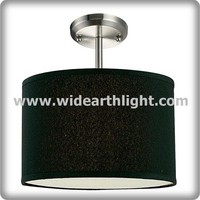 modern Black drum hanging light with shade for home decoration (C50266)