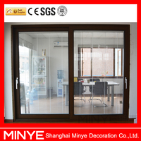 China top door design popular interior used aluminum sliding door fixed shutter door