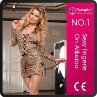 Supply Hot sale sexy cat women sexy latex costume ladies nightwear