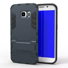 Hot Selling Iron-Bear Stand Rugged Hybrid Armor Cell Phone Case For Samsung Galaxy S6 Edge