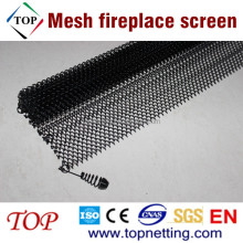 Stainless Steel Mesh Fireplace Screen