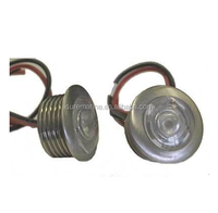 Boat Marine RV ITC Button LED Courtesy Lights for 2 Lights Watertight Nickel