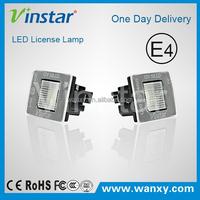 2015 New Vinstar car led license plate lamp for Benz W218 number plate light