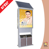 new 2015 product idea advertising material road safety signs trash bin lighting box