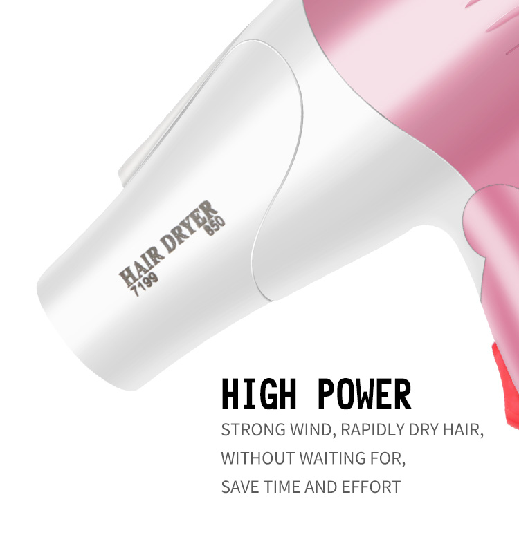 Wholesale industrial mini electric foldable hair blow dryer