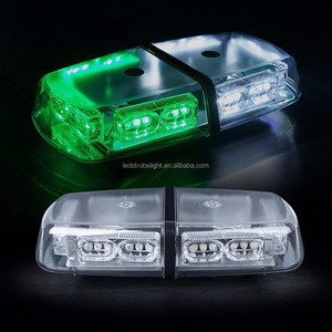 "12"" 36W Mini Bar Waterproof Green White LED Emergency Hazard Flashing Magnetic Warning Beacon Light Bar for Vehicles"