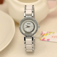 Natural shell dial 18k gold plating KIMIO Ladies Watches