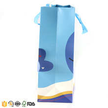 New dolphin design blue paper bags with your own logo