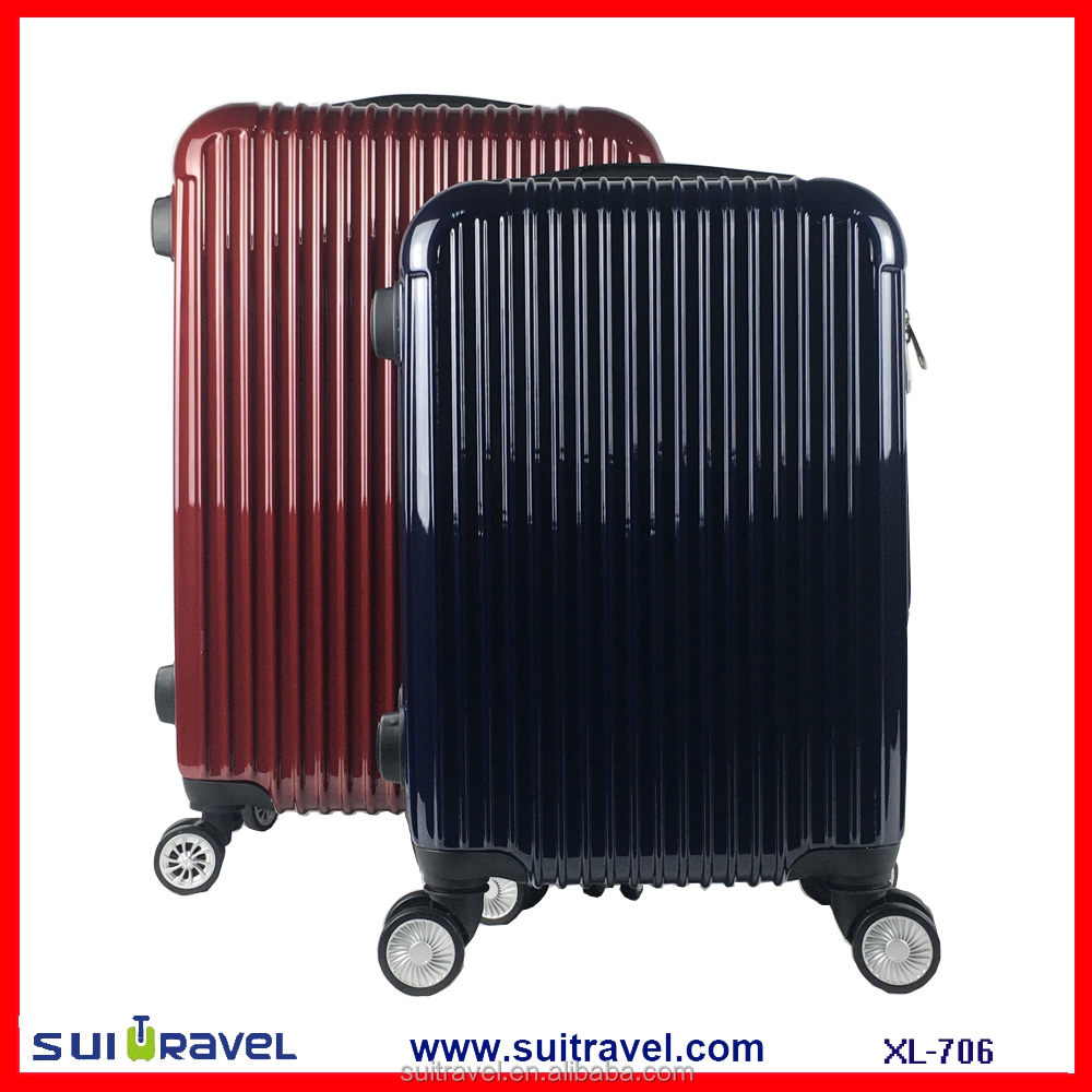 China Factory new design abs luggage set PC trolley bag 3pcs in one set