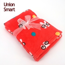 Super soft flannel fleece baby blanket with cute printing
