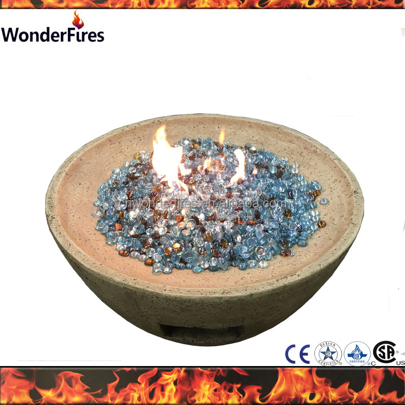 Out door Magnesia Gas Fire Pit Bowl