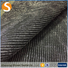 Hot selling 100%poly bright wire cloth metallic crinkle embossed fabric