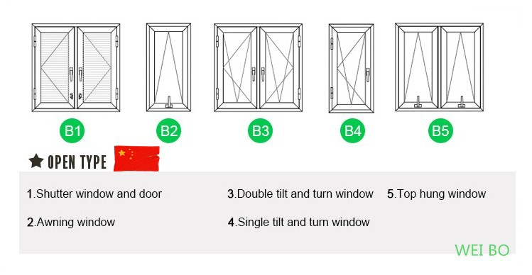 Selling good pvc window,pvc/upvc casement window with louver