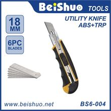 Factory Supply Best Selling ZINC ALLOY Utility Knife/Cutter/SIX Blade /Plastic Hand Tool BS6-004