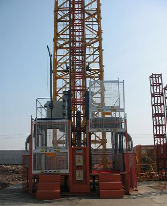 Construction Elevator China brand double cage