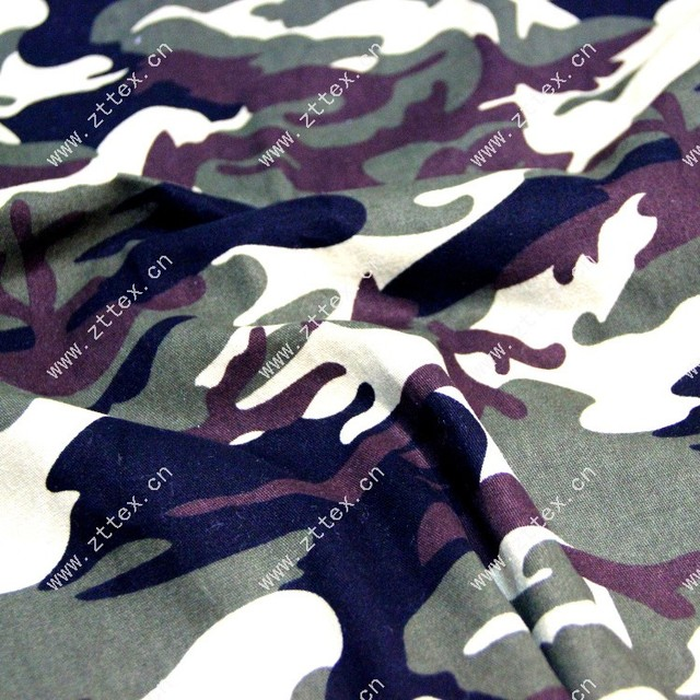 Latest tops Pure Cotton wool camouflage fabric