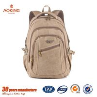 Chinese supplier hot selling classical vintage canvas men backpack bags