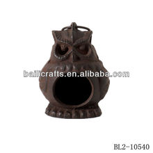 wholesale cheap cast iron metal owl candle lantern