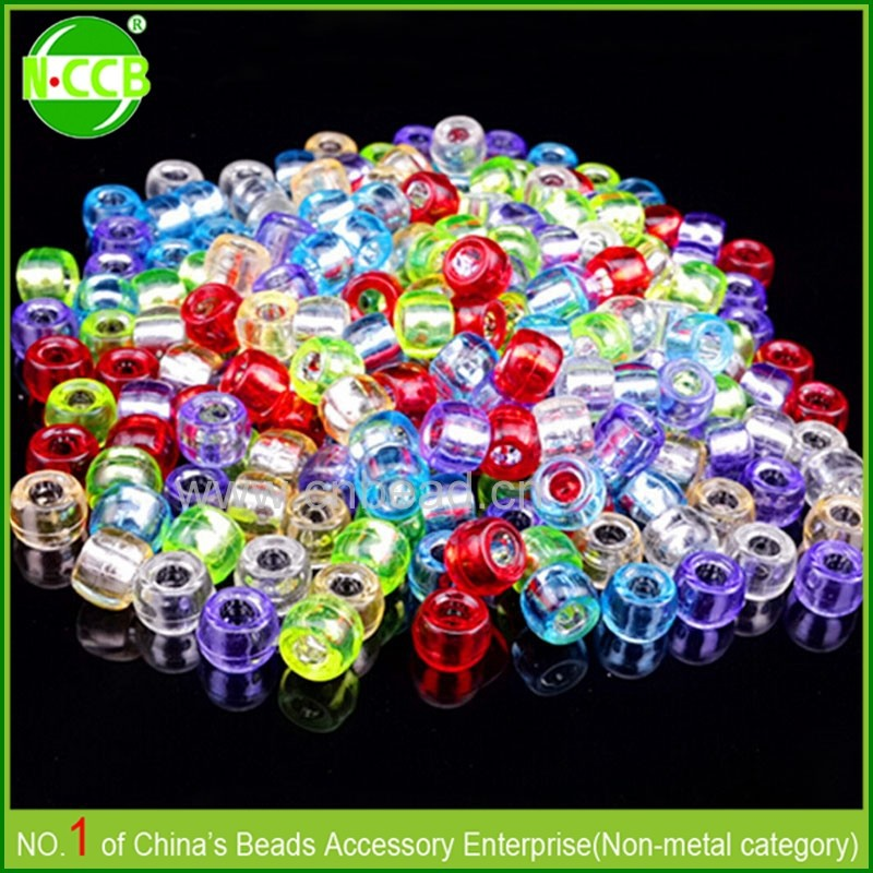 Cheap selling by kilogram wholesale PS material plastic pony beads