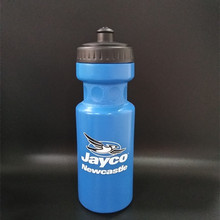 blue plastic eco squeeze water bottle