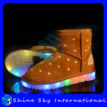 New Fashion Boots Design With Rechargeable Multicolors Lights Led Boots
