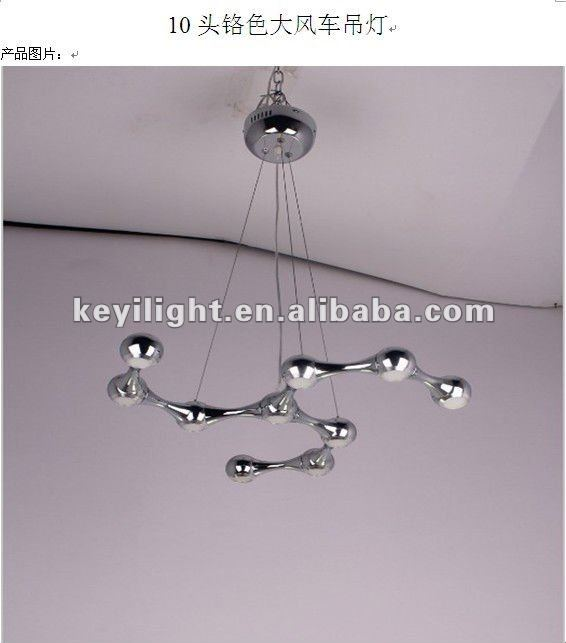 new 10W modern led pendant lamp in polished chrome(PL8002)