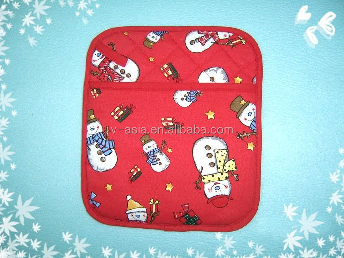 KY07005 funny cotton customized printed kitchen pot holder