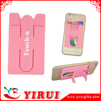 MSDS portable adhesive card holder for mobile phones and cases