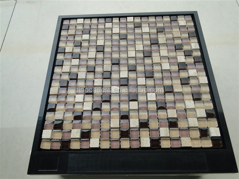 Spa crystal glass tiles from China factory