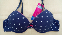 75AA Size Lovely Teen Girl Cute Type Spandex Cotton Fibre Small Bra With Customized Printing