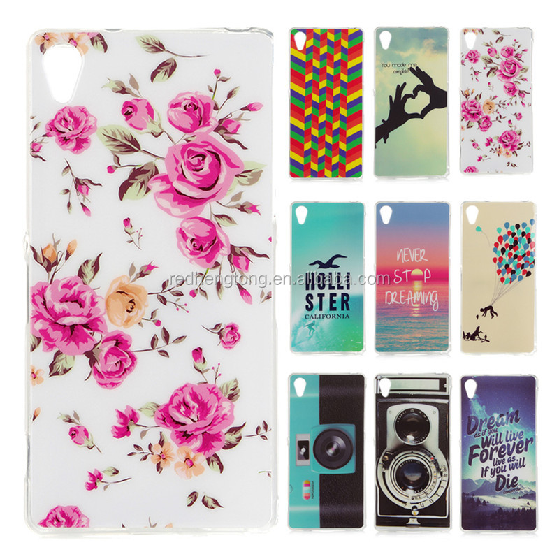 For Sony Xperia Z2 Cartoon Flower Phone Case Cover Soft TPU Phone Back Shell