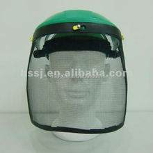 2016 wire mesh face visor protective PP headgear wire mesh with safety helmet manufacturer