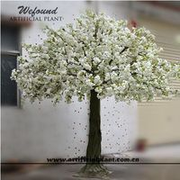 WEFOUND artificial spring cherry blossom display tree with white blossom